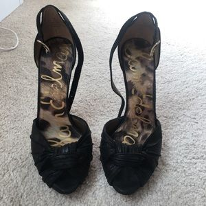 Sam Edelman platform black heels